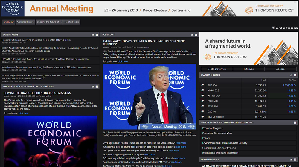 The Davos app. How Eikon apps and tools covered 2018