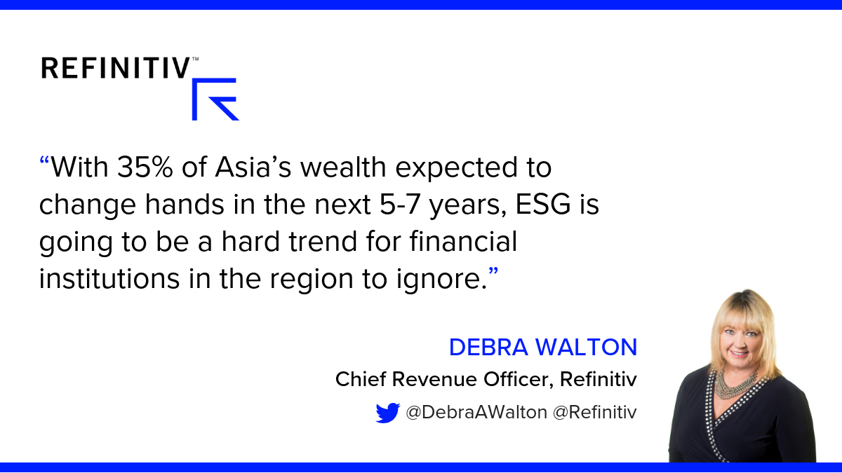 Debra Walton quote. The rise of sustainable investing in Asia