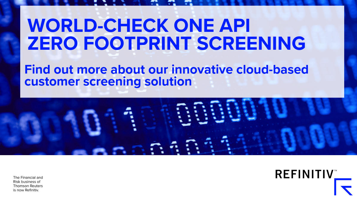 World-Check One API Zero Footprint Screening