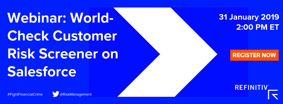 Webinar: World-Check Customer Risk Screener on Salesforce. On the trail of white collar crime