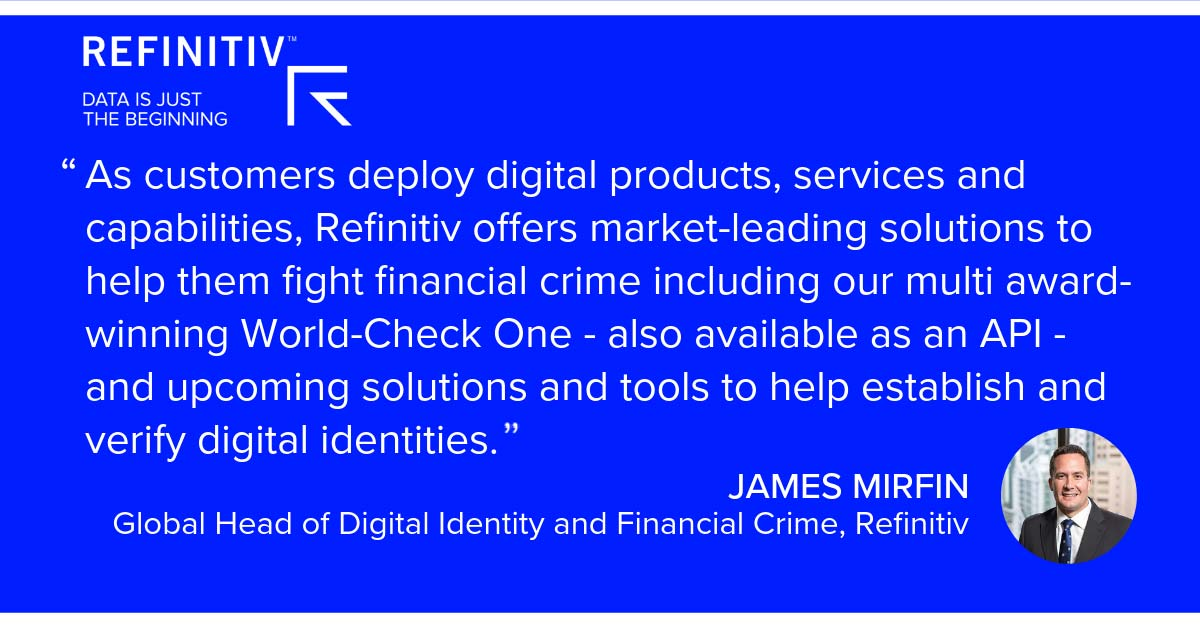 James Mirfin Quote. Digitalization and the fight against financial crime