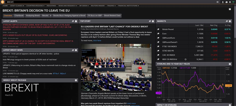 Brexit App in Eikon. Brexit Day: The best financial markets coverage is on GMF