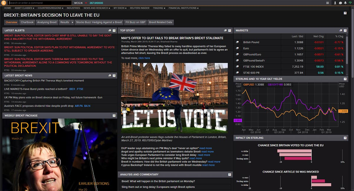 The Brexit app on Eikon