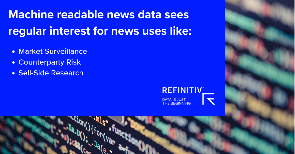 Machine readable news data sees regular interest from. Finding alpha with machine readable news