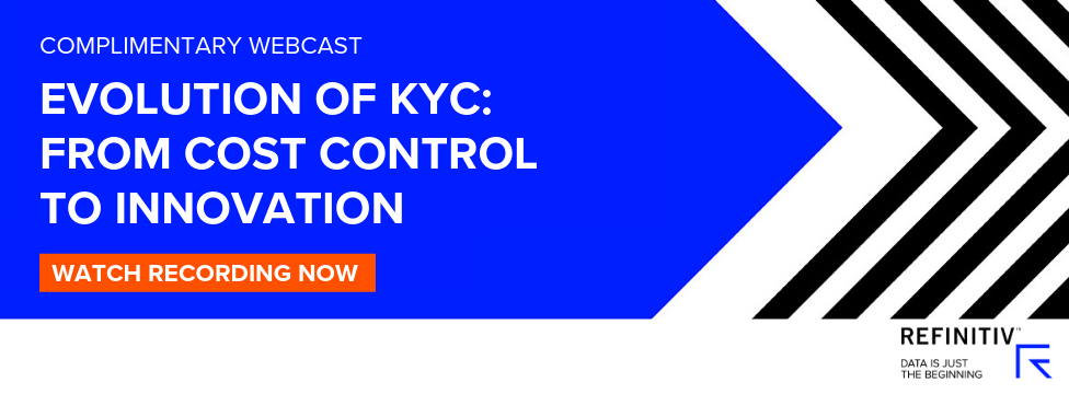 Evolution in KYC: From Cost Control to Innovation. Innovation for today's KYC challenges