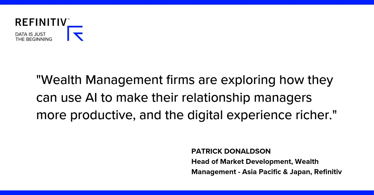 Patrick Donaldson Quote. Exploring AI trends in wealth management