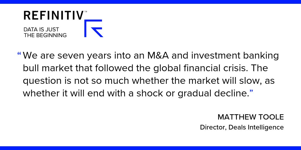 Matthew Toole Quote. What's the state of global dealmaking in 2019?