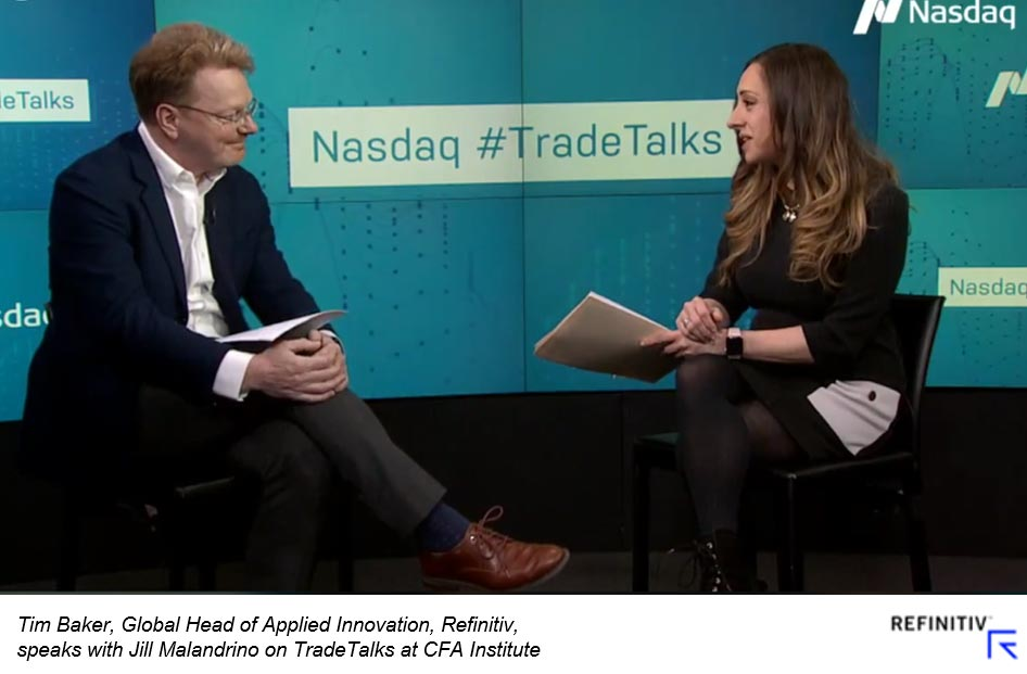 Watch: AI & alt data has changed sell-side research with Tim Baker, Refinitiv, and Jill Malandrino, Global Markets Reporter, Nasdaq. How to compete for data science talent