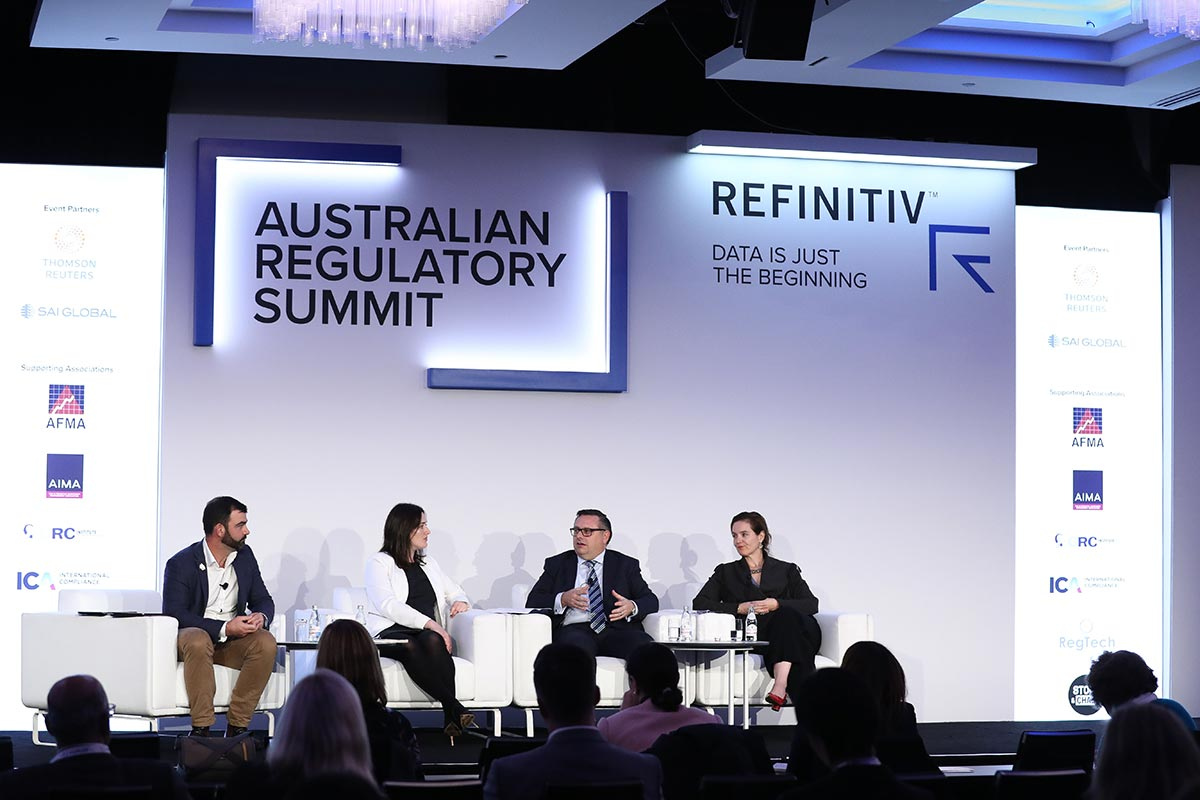 Speakers at the 2019 Refinitiv Australian Regulatory Summit in Sydney.The dawn of open banking in Australia
