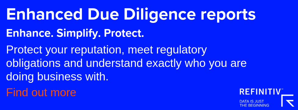Discover how Enhanced Due Diligence can help safeguard your reputation and comply with your regulatory requirements