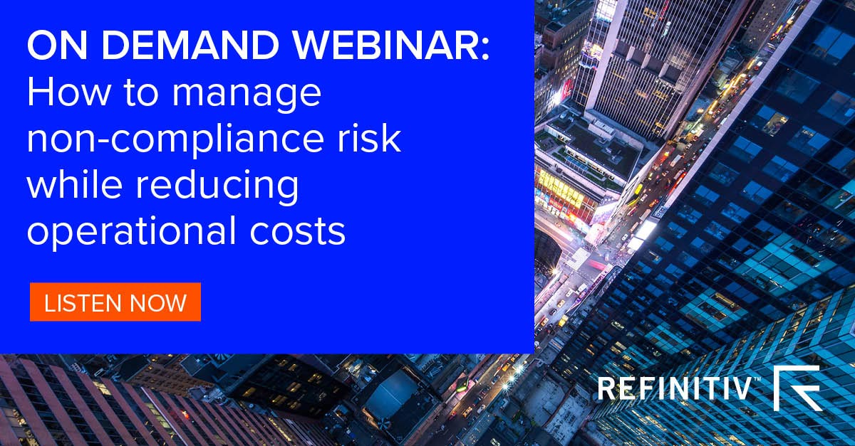 On demand webinar. Managing compliance costs with quality data