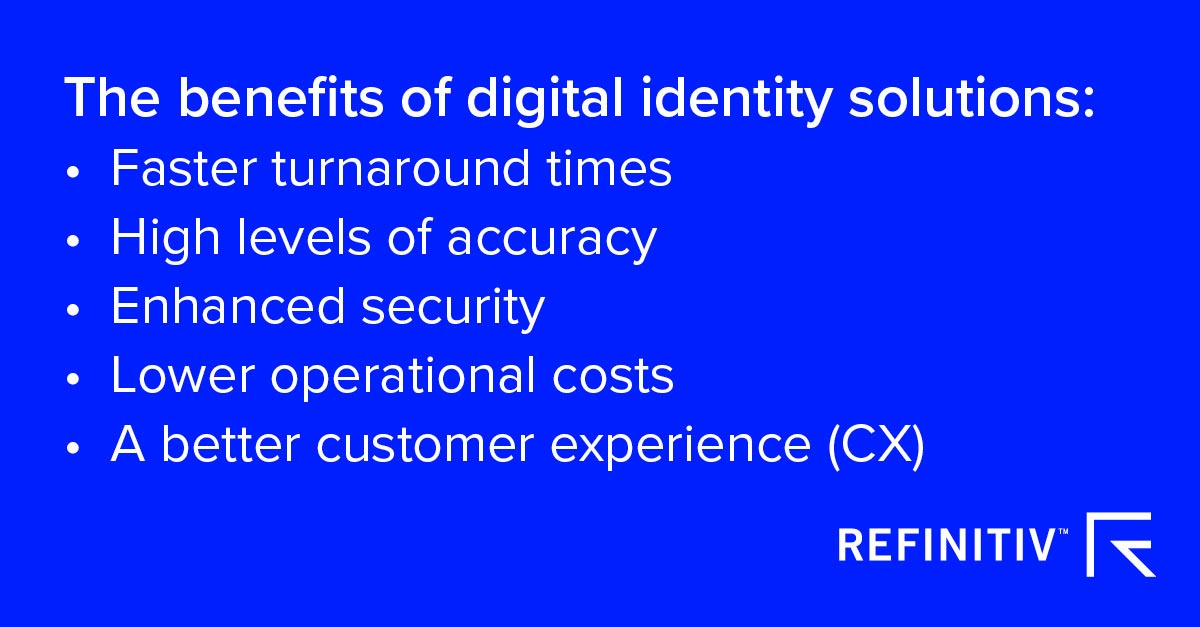 Innovation and the fight against financial crime report. The benefits of digital identity solutions