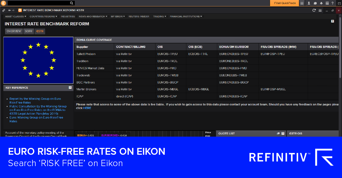 Euro risk-free rates on Eikon. The LIBOR transition: What you need to know