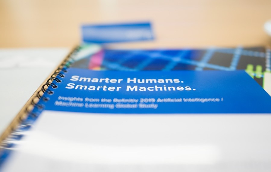 Smarter Humans. Smarter Machines. brochure from the #RefinitivSocial100 Breakfast Roundtable.