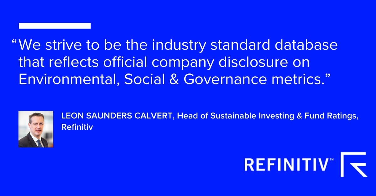 Leon Saunder Calvert quote. ESG reporting: Why full disclosure matters