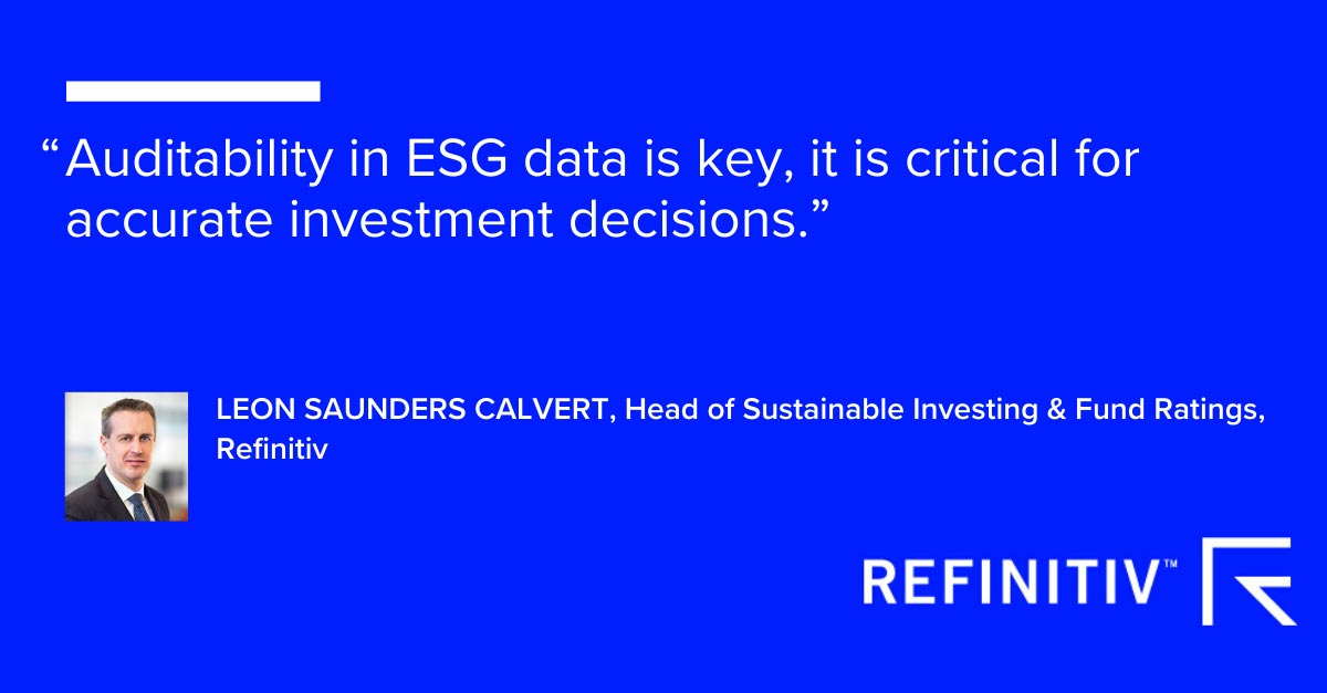 Leon Saunders Calvert quote. ESG reporting: Why full disclosure matters