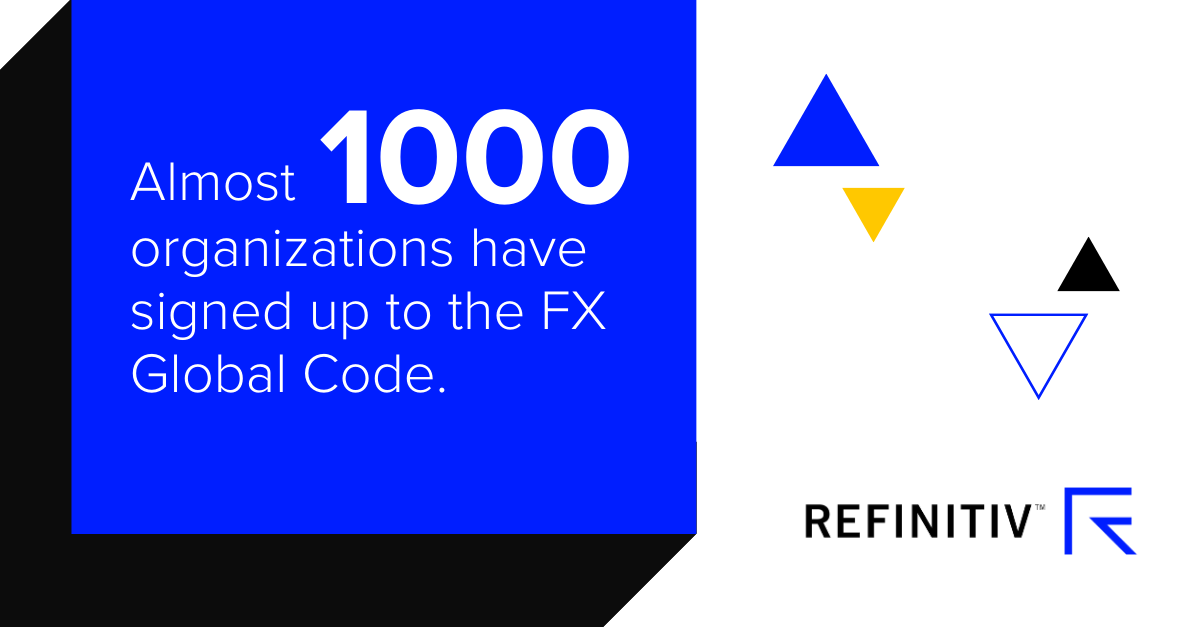 Almost 1000 organizations have signed up to the FX Global code
