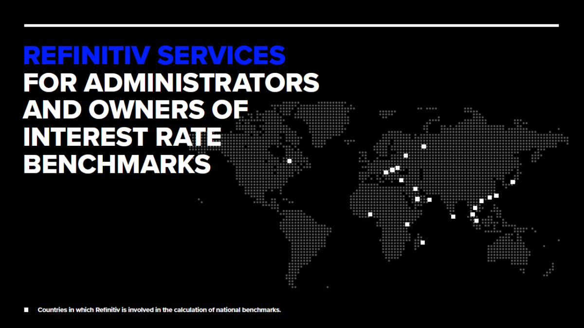 WORLD IMAGE: Countries in which Refinitiv is involved in the calculation of national benchmarks. Licensed under CCBY-SA