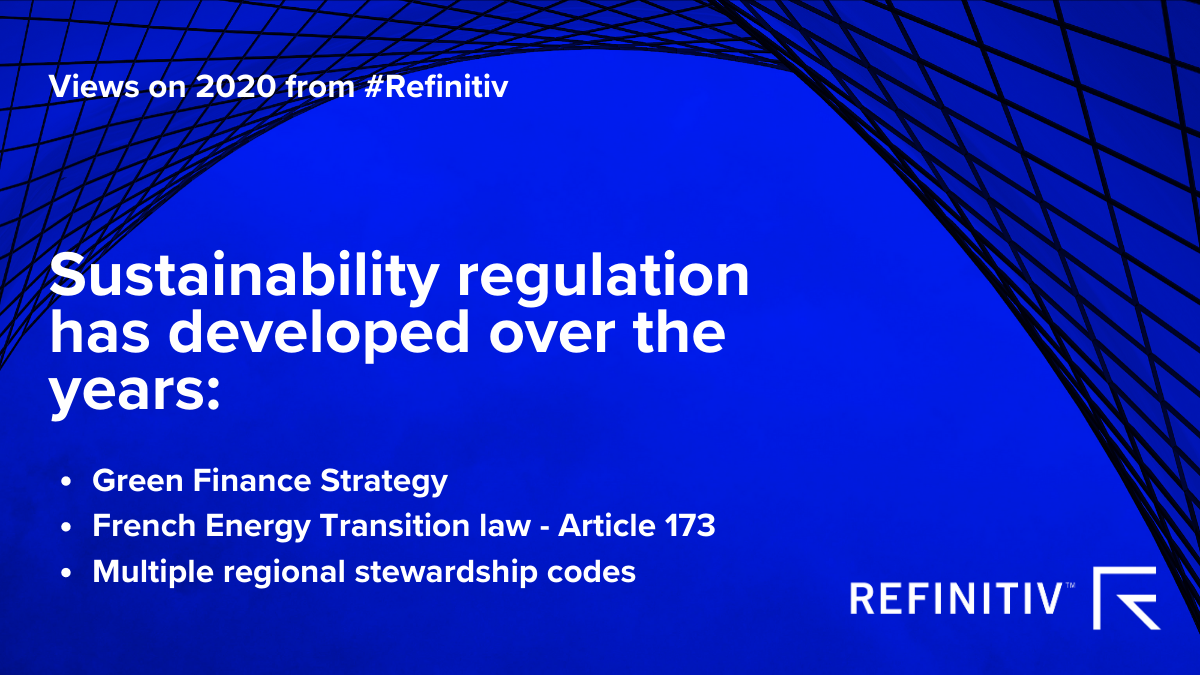 Views on 2020 from #Refinitiv image 2. Sustainable Leadership Three regulatory trends to look out for.