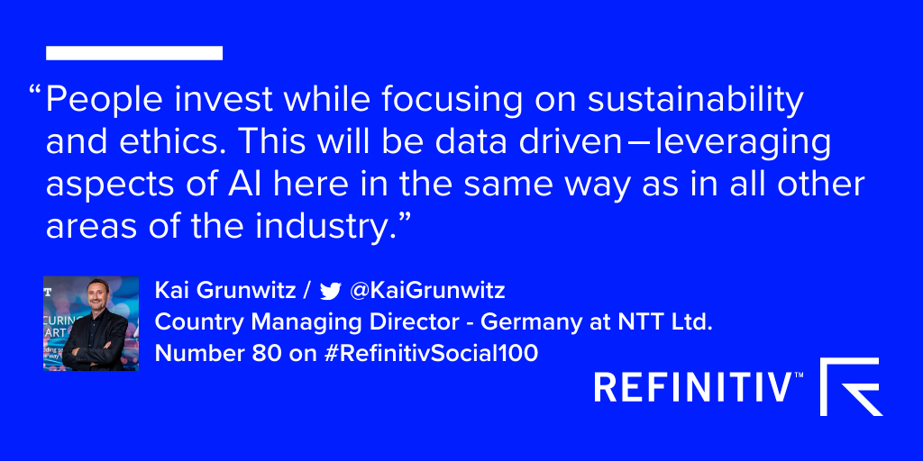 Kai Grunwitz comments on sustainability and ethics being part of investment decisions by customers in 2020.