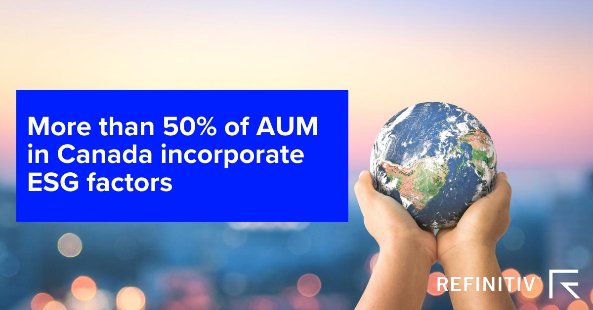More than 50% if AUM in Canada incorporate strict ESG criteria. Redefining ESG: A green taxonomy for Canada?