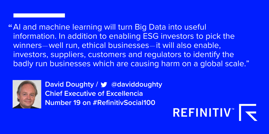 Machine learning and AI will be uncover bad businesses and invest ESG investments in 2020, says David Doughty.