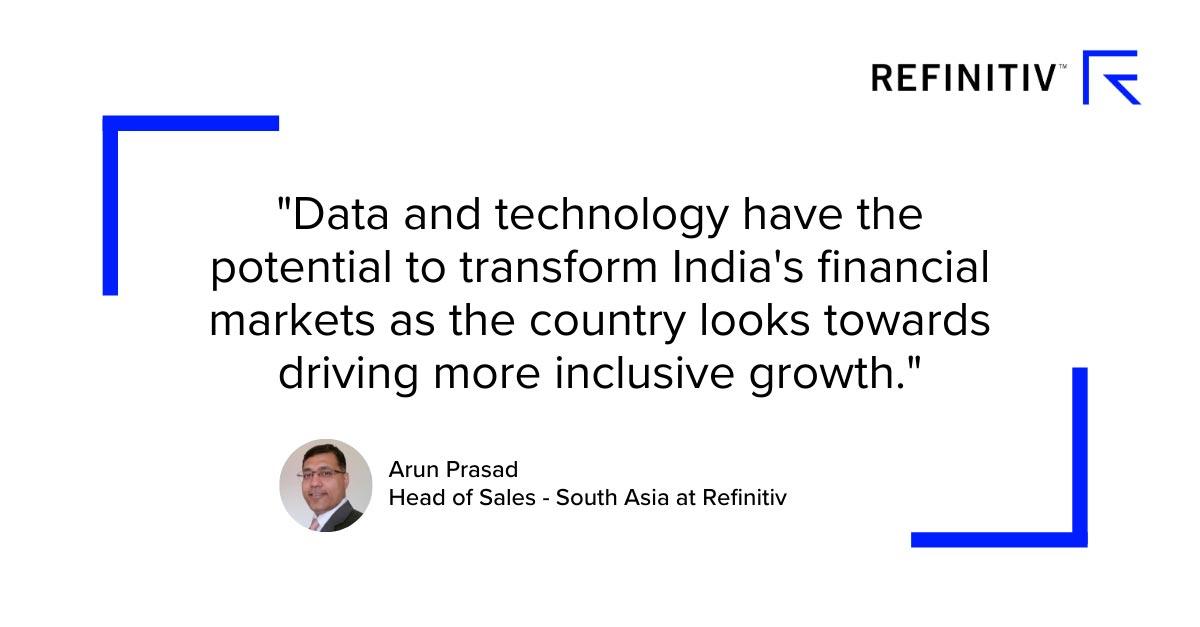 Arun Prasad quote. Accelerating financial inclusion in India