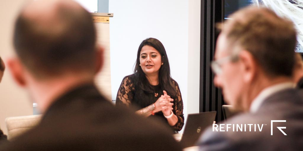 Sneha Shah was among the expert finance voices at the New York breakfast. Fintech innovation as a force for good