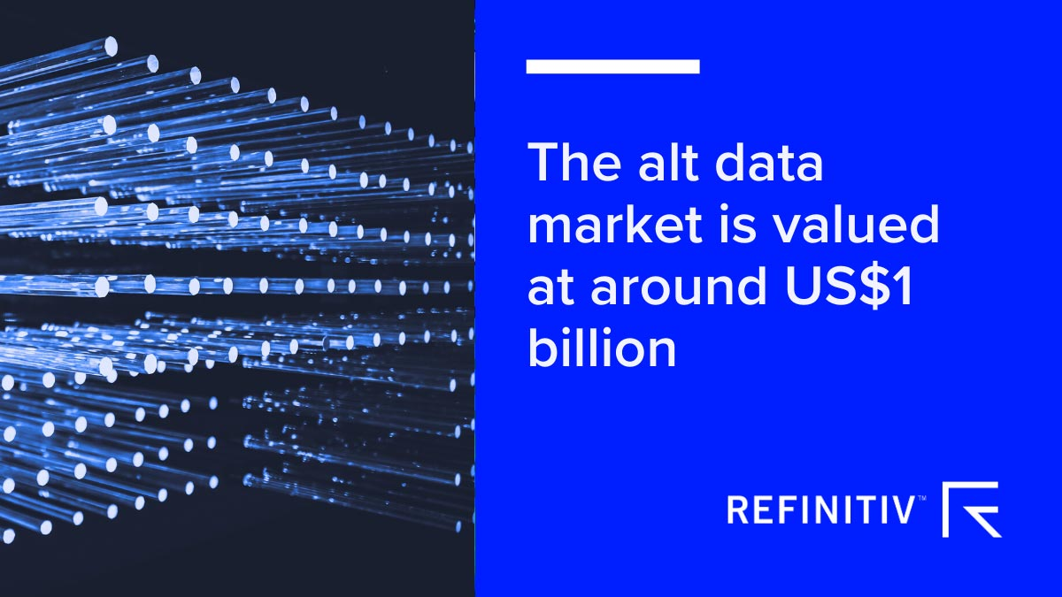 The alt data market us valued at around US$1 billion. Building an alternative data ecosystem