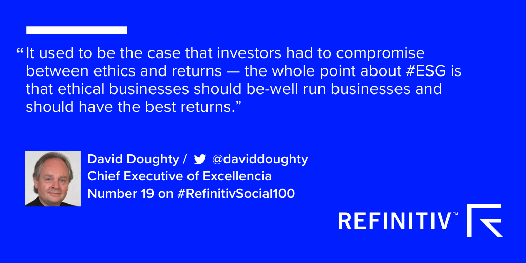 David Doughty quote. ESG Investing: The 5 biggest questions.