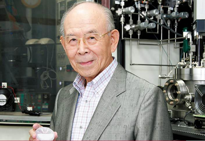 Isamu Akasaki is a lifetime professor in the Department of Materials and Functional Engineering at Meijo University
