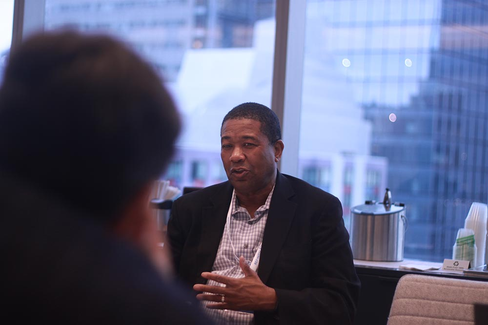Using ESG metrics to unlock value. Kevin L. Jackson speaks at a breakfast in New York that discussed how fintech can be of benefit to society
