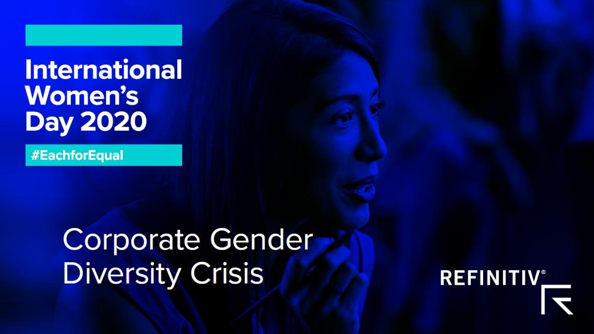 International Women's Day 2020. Corporate Gender Diversity Crisis. #WomenLeaders: A focus on gender diversity