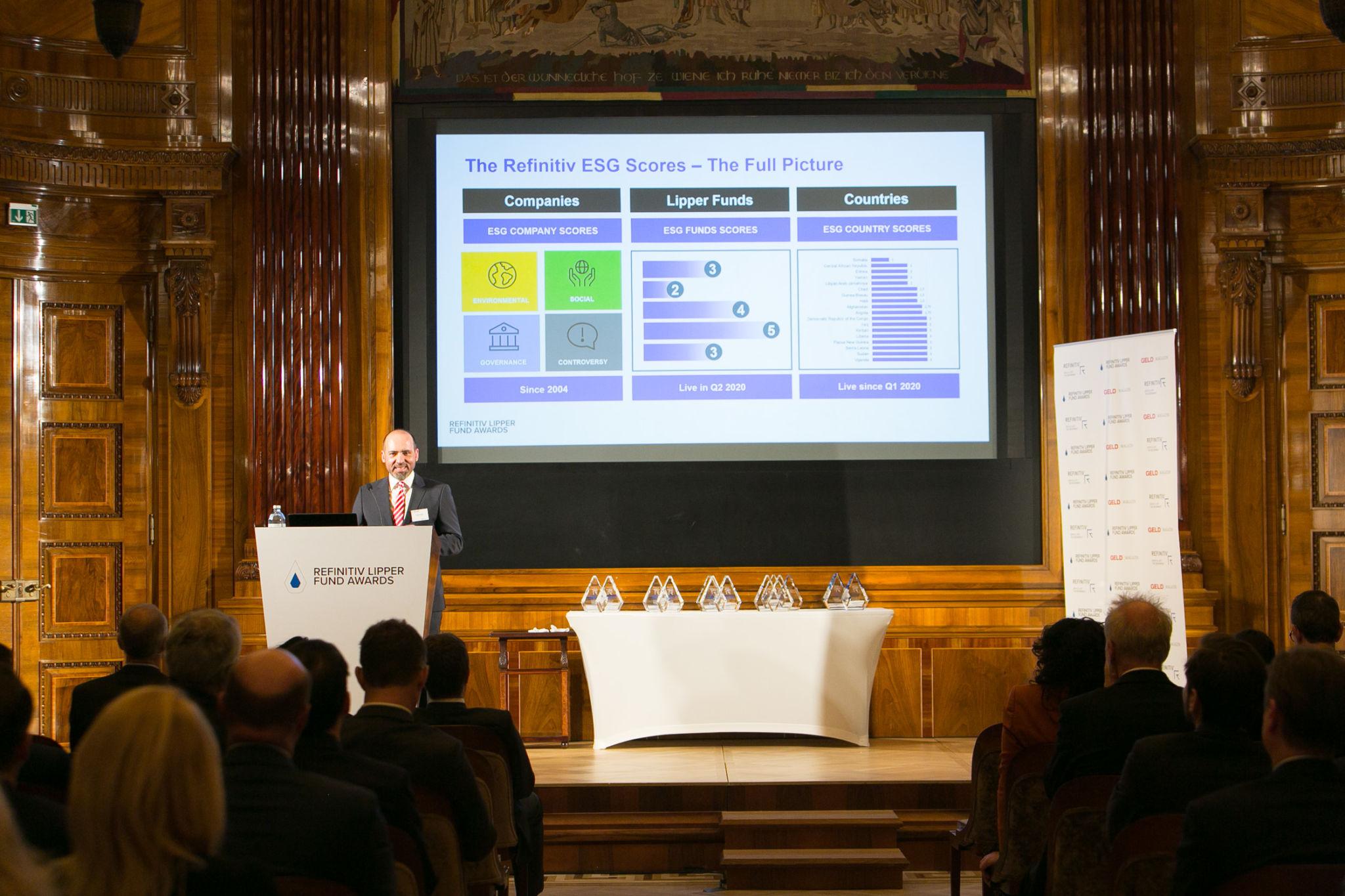 Johann Leikert, Sales Director CEE/CIS, Refinitiv presents the full picture of The Refinitiv ESG Scores.