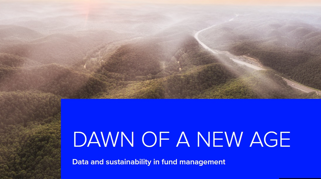 Dawn of a New Age Data and Sustainability in Fund Mangement Report Front Cover Image