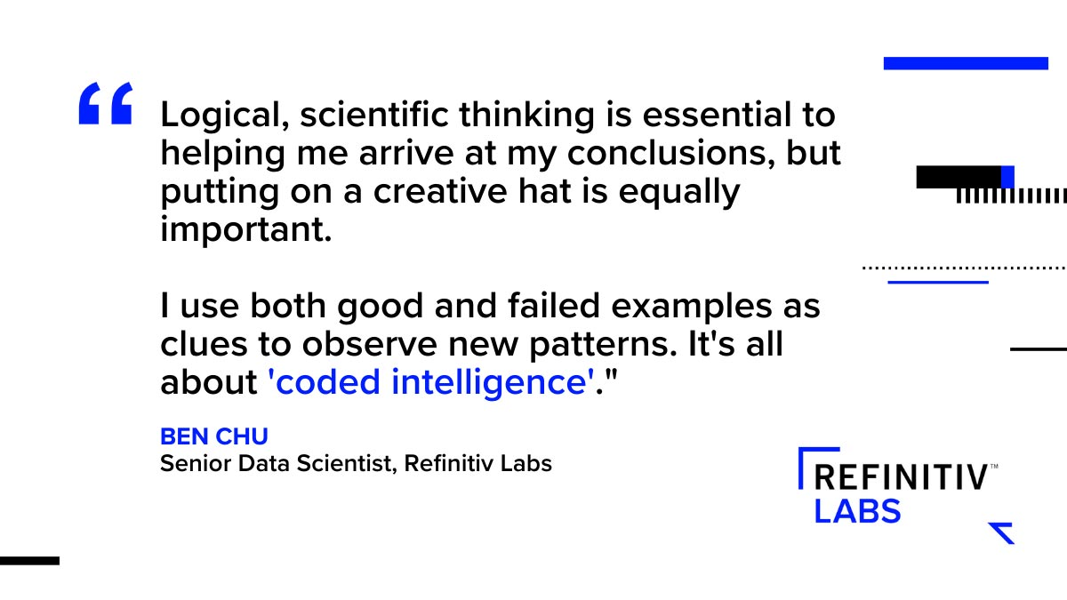 Ben Chu quote. How to think like a data scientist