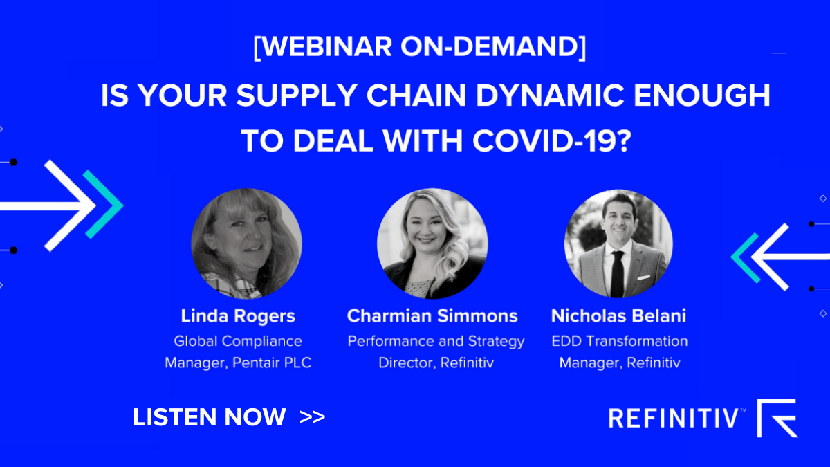 Webinar on demand. COVID-19: Lessons from supply chain disruption