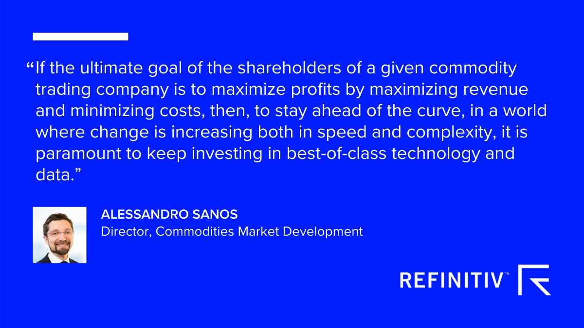 Alessandro Sanos quote. Digital transformation in commodities and energy