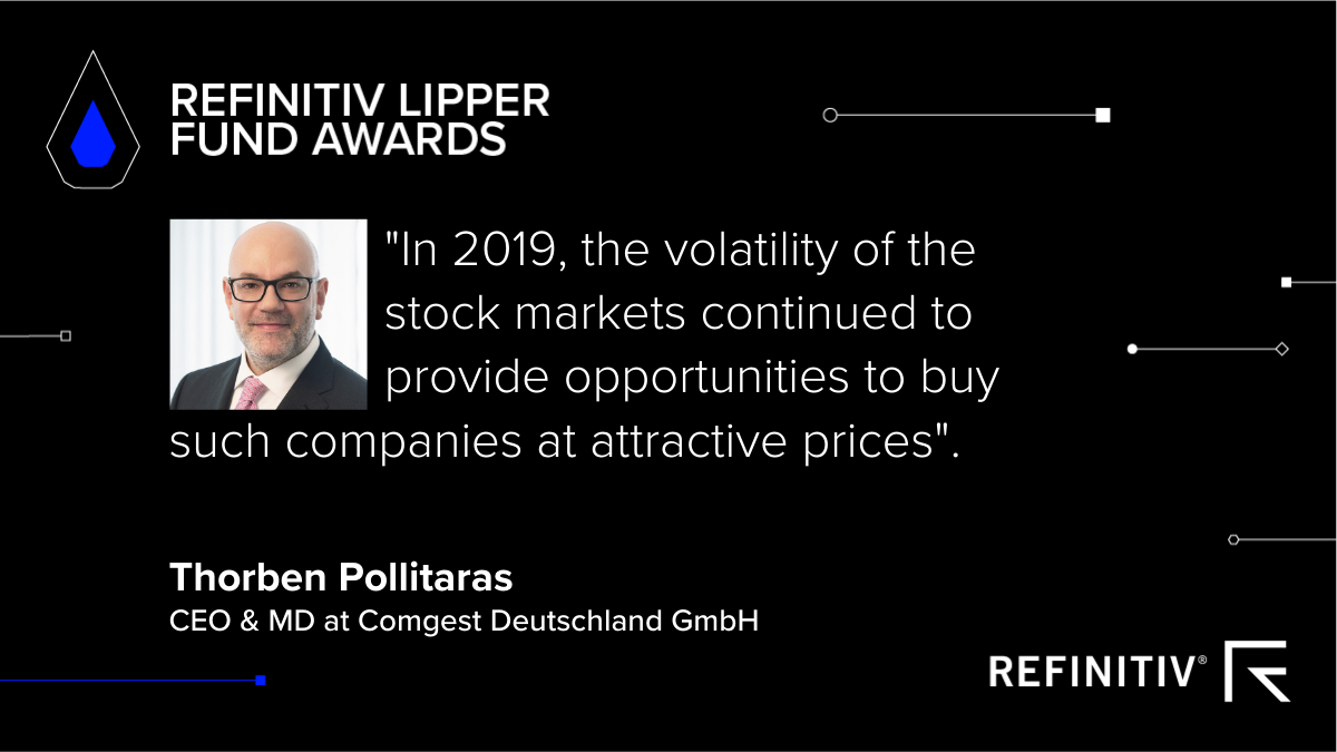 Refinitiv Lipper Fund Awards photo and quote image of Thorben Pollitaras, CEO & Managing Director at Comgest Deutschland GmbH