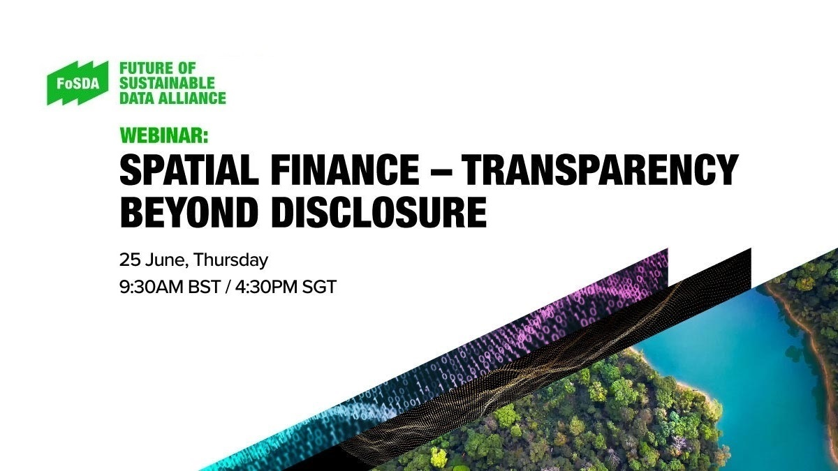 Spatial finance – transparency beyond disclosure. Biodiversity loss and financial risk