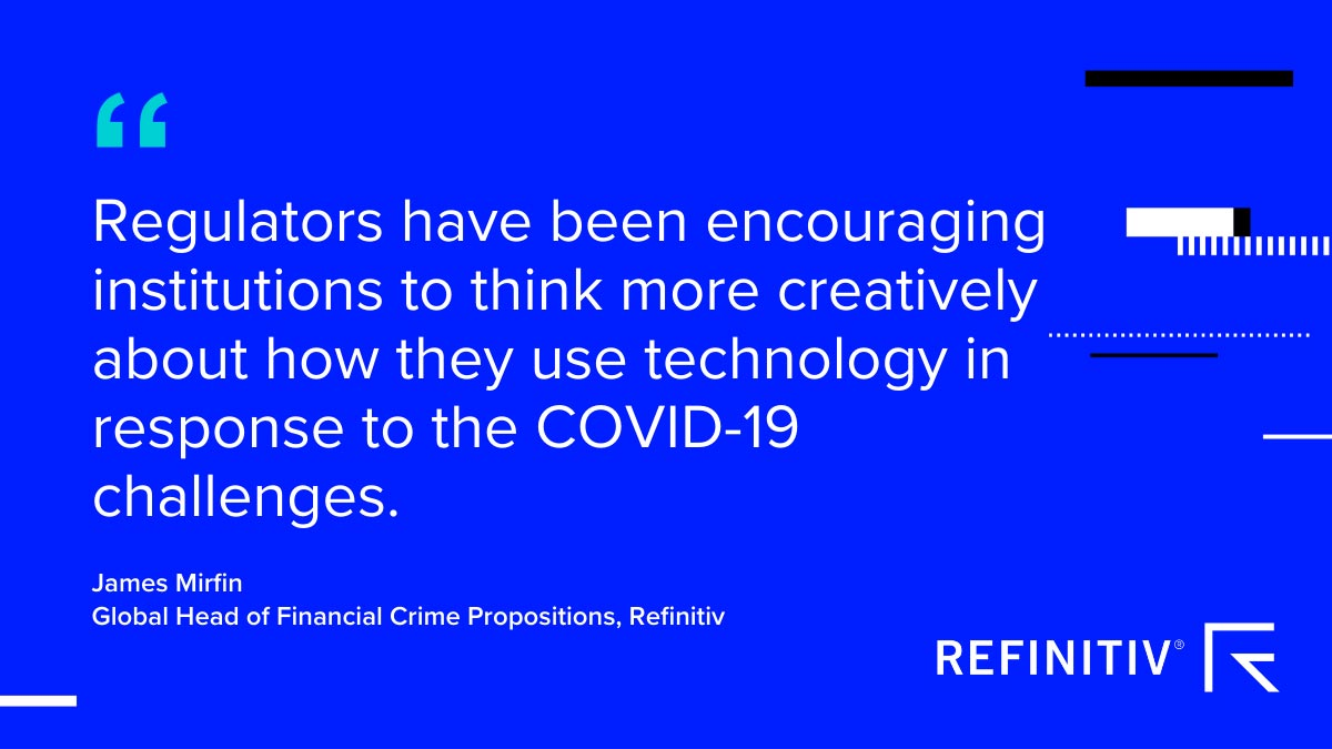 James Mirfin quote. Digital solutions to fight against financial crime