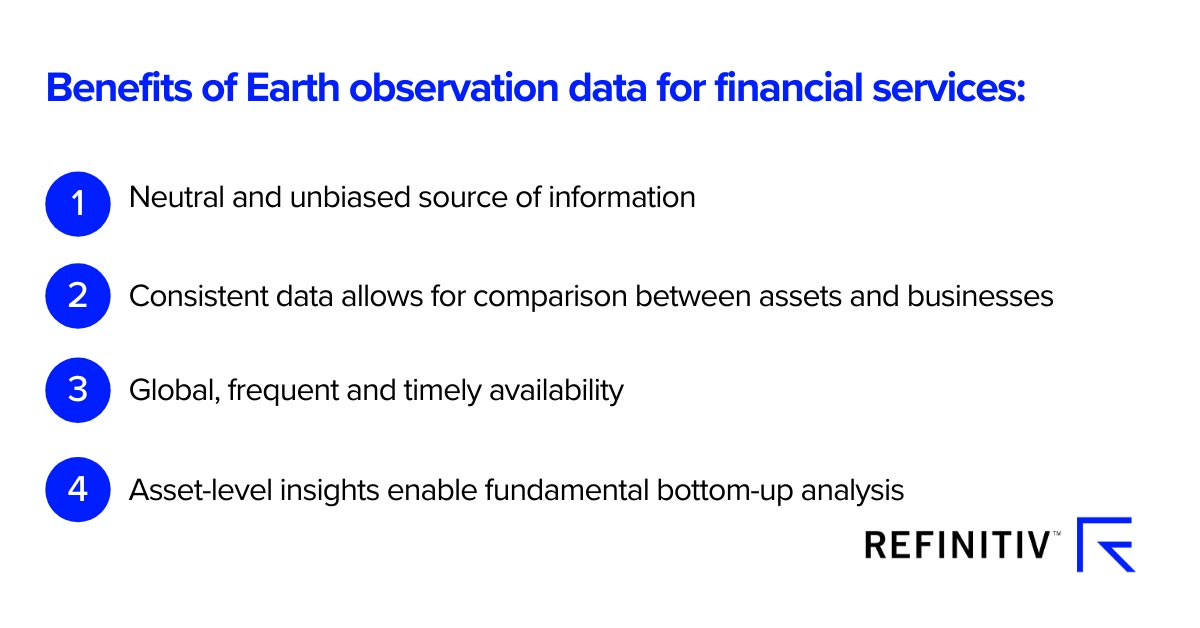 Benefits of Earth observation data for financial services. Using spatial finance for sustainable development