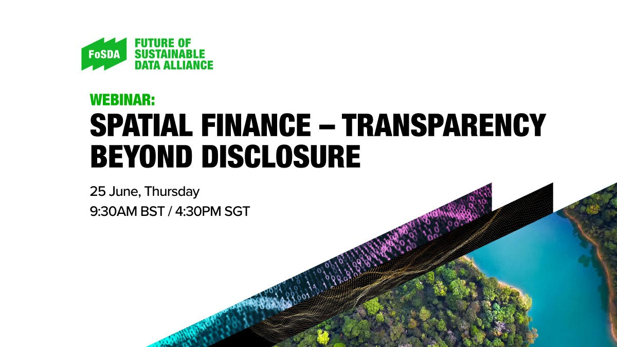 Spatial Finance – Transparency beyond disclosure