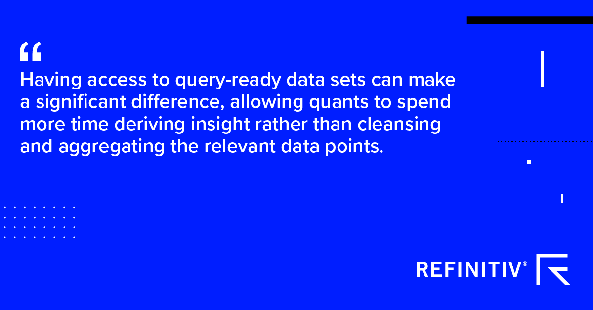 Quote. Honing trading strategies with query-ready data